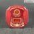 KNC gỗ G13 vuông nâu khoét bốn góc 21.5cm – khung đỏ họa tiết 08
